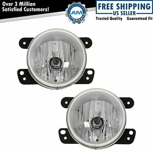 Driving Fog Lights Lamps Pair Set For Dodge Magnum Chrysler 300 Jeep Wrangler