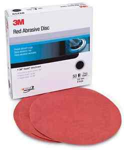 50ct 3m Hookit Red Abrasive Automotive Sandpaper Discs 01218 6 P400 Grit