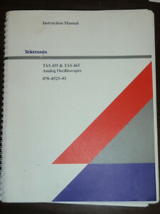 Tektronix Analog Oscilloscopes Instruction Manual Tas 455 Tas 465 _070 8523 01