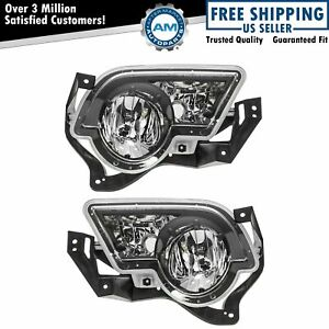 Fog Driving Lights Lamps Left Right Pair Set For 02 06 Avalanche Pickup Truck