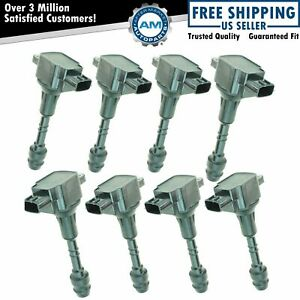 Ignition Coil Set Of 8 For 04 06 Nissan Armada Titan Truck Pickup Infiniti Qx56