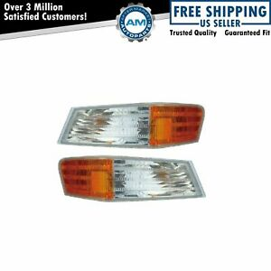 Parking Light Turn Signal Directional Lamp Front Pair Set For 07 17 Jeep Patriot