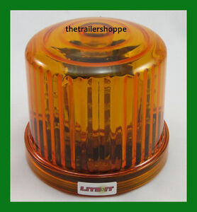 Battery Operated Amber Led Beacon Flashing Light Warning Magnetic Mount