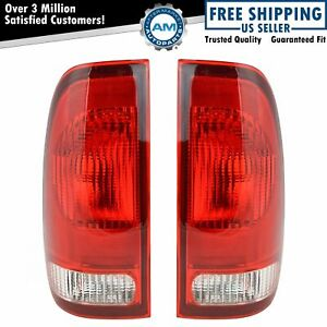 Taillights Taillamps Rear Brake Lights Pair Set New For Ford F Series Truck