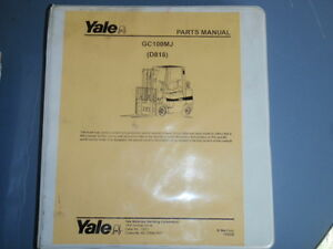 Yale Parts Manual Gc100mj d818 _ 2005 Forklift Electric Lift Truck Battery