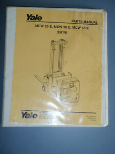 Yale Parts Manual Electric Lift Truck Forklift _ 524167347 Forklift Lift Truck