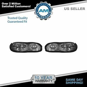 Headlights Headlamps Pair Set For 98 02 Chevy Camaro
