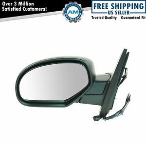 Heated Power Black Textured Door Mirror Left Lh Driver For Chevy Pickup Truck
