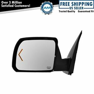 Power Heated Signal Side View Mirror W Chrome Cap Driver Left Lh For Tundra