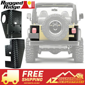Rugged Ridge Rear Corner Guard Body Armor For 97 06 Jeep Wrangler Tj 11650 01