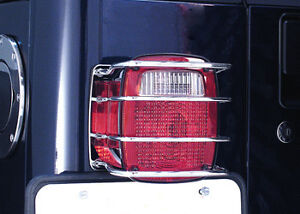 Rugged Ridge Euro Taillight Guards Jeep 76 86 Cj 7 87 06 Wrangler 11103 01