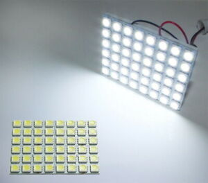 1 White 48 Smd 5050 Led Panel Lamps For Car Interior Dome Lights Trunk Cargo