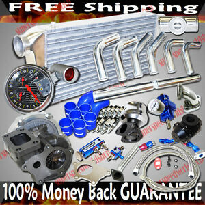 T3 t4 Turbo intercooler piping Kit Combo For 04 05 06 07 Mazda Rx 8 Rx8
