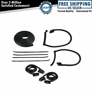 Weatherstrip Seal Kit Door Window Sweep Roofrail Trunk For 70 81 Camaro Firebird