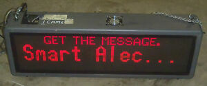 46 Red Display Sign Emc Fm128032p03tri Class A Electronic Message Board