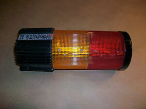 Federal Signal Beacon Stack Light Litestak Lsb 120 Red Amber 120vac