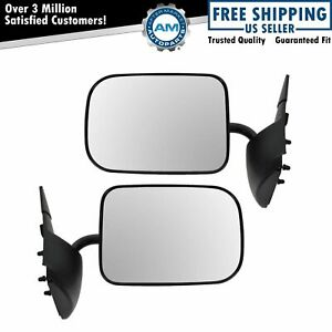 Manual Textured Side View Mirrors Pair Set Of 2 For 94 97 Dodge Ram 2500 1500