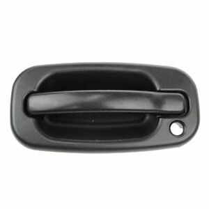 Door Handle Outside Exterior Black Front Driver Side Left Lh For Chevy Gmc