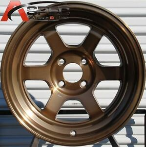 15x9 Rota Grid V 4x114 3 0 Full Royal Sport Bronze Wheel Fits Prelude Accord