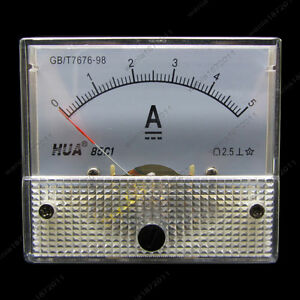 Dc 5a Analog Ammeter Panel Amp Current Meter 85c1 0 5a Dc Doesn t Need Shunt
