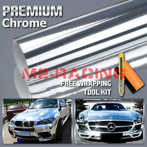 12 X60 Silver Chrome Vinyl Wrap Sticker Decal Sheet Air Release Bubble Free