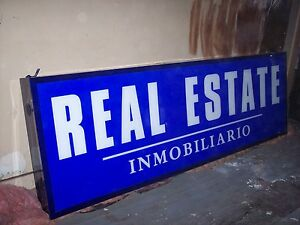 Real Estate Panel Sign 9 X 3 Lighted Fluorescent