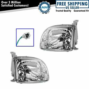 For 2005 2006 Toyota Tundra Headlights Headlamps Left Right Pair Set New