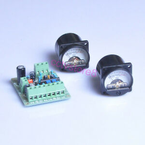 Vu Meter Driver Board 2pcs Vu Meter Warm Back Light 35x35mm 500 a 0db 1 288v