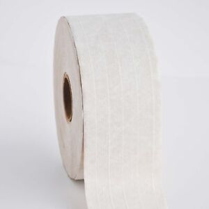 Gum Tape Reinforced 3 X 450 Water Activated Kraft Paper White Tapes 10 Rolls