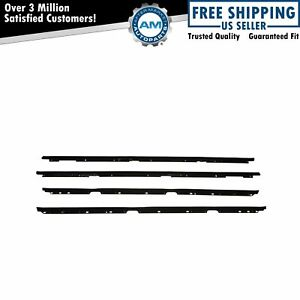Window Sweeps Felts Weatherstrip Seals Kit Set Of 4 For Camaro Firebird Trans Am