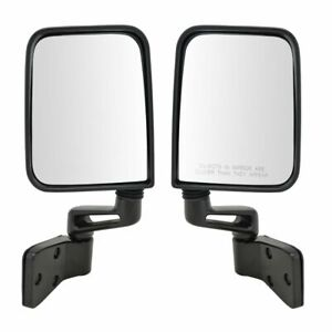Manual Folding Side Mirrors High Quality Left Right Pair 2 For Jeep Wrangler