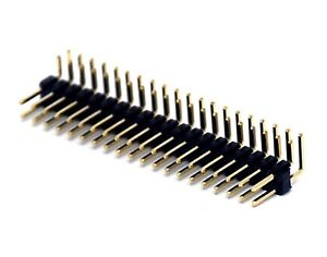 250x Male Pin Header Right Angle 90 Dual Row 2x20p 2x20 Pitch 2 54mm Rohs H 6mm