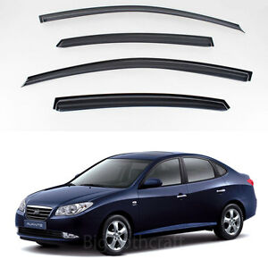 New Smoke Window Vent Visors Rain Guards For Hyundai Elantra 2007 2010