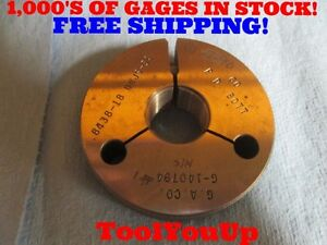 27 32 18 Unjs 3a Thread Ring Gage Go Only 8438 P d 8077 Special Size Tools