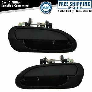 Exterior Outside Outer Door Handle Pair Set Left Right Rear For 98 02 Accord