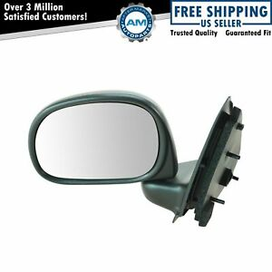 Manual Black Door Mirror Lh Left Driver Side For Ford Pickup Truck F250 F150