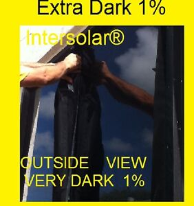 60 X10 Feet 1 Very Dark Hp 2ply Black Residential Commercial Window Film Tint