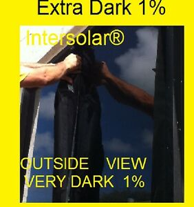 60 X100 Feet 1 Very Dark Hp 2ply Black Residential Commercial Window Film Tint
