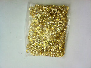 1000 Grommets Brass Metal 2 3 9 Eyelet With Washers For Hand Press