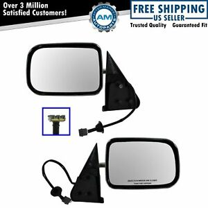 Power Side View Mirrors Chrome Left Right Pair Set For 94 97 Ram Pickup Truck