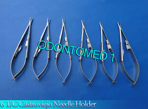 6 T c Castroviejo Needle Holder 9 Straight Surgical Dental Instruments