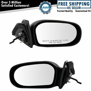 Manual Remote Side View Door Mirrors Pair Set Of 2 For 95 99 Toyota Tercel