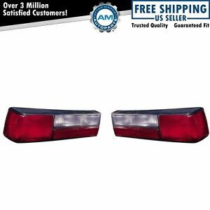 Taillights Taillamps Rear Brake Lights Left Right Pair Set For 87 93 Mustang Lx