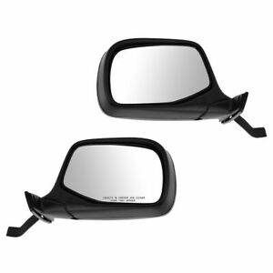 Black Manual Mirrors Pair Set Of 2 For Bronco Pickup Truck F150 F250 F350 F450