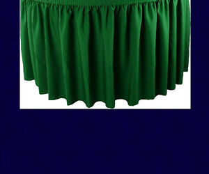 14 Navy Premium Flame Retardant Table Skirts Fire Resistant Table Skirting