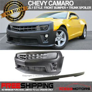 Fits Chevy Camaro Zl1 Conversion Front Bumper Cover Trunk Spoiler