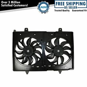 Complete Radiator Cooling Dual Fan Blades Motors Shroud For Nissan Rogue