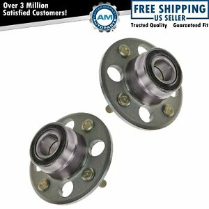Set Of 2 New Rear Wheel Hub And Bearing Assembly For Civic Rear Drum Non abs