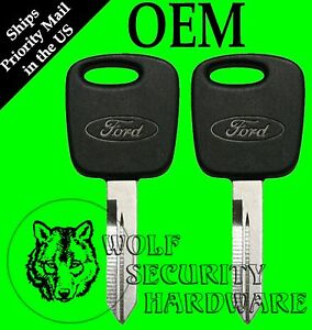 Lot Of 2 Ford F150 99 04 Heritage Oem Pats Transponder Electronic Chip Key Blank