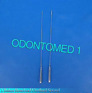2 Pcs Bakes Rosebud Urethral Sounds 1mm 4mm